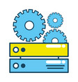 technology computer support cartoon vector image vector image