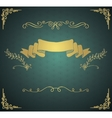 Vintage Card with Golden Hand Sketched vector image vector image