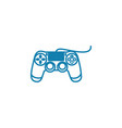 wired gamepad linear icon concept wired gamepad vector image vector image