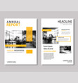 yellow annual report brochure template a4 size vector image