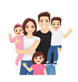 young family portrait vector image vector image