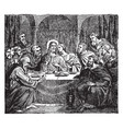 communion of the apostles with jesus at the last vector image