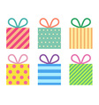 Isolated flat gift boxes vector image