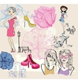fashion background vector image