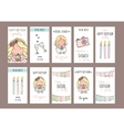 girl party invitation or congratulation cards vector image