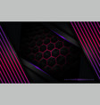 3d black modern background with purple lines vector image vector image
