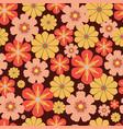 60s 70s retro vintage flowers seamless