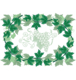 Abstract frame from grapevines vector image