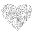abstract heart on white background vector image