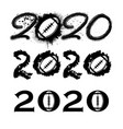 american football 2020 new year numbers vector image
