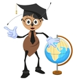 Ant teacher holding globe Geography teacher vector image vector image