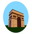 arc de triomphe on white background vector image