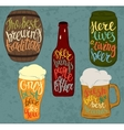 Barrel of beer and can bottle pint glassware vector image vector image