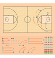 Basketball coaching board vector image vector image