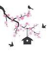 birds house vector image vector image