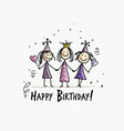 birthday party funny girls for your design vector image