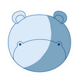 blue color shading silhouette faceless of hippo vector image vector image