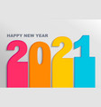bright banner for new 2021 year on light backdrop vector image vector image