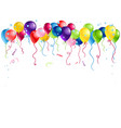 bright holiday balloons isolated vector image