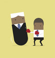 businessman punching boss tumbler doll vector image vector image