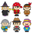 children dressed vector image vector image