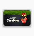 christmas background with realistic decoration vector image vector image