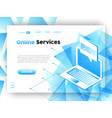 computer data business app web landing page vector image vector image