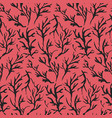 contrast red drawn ink branches pattern vector image vector image