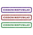 czech republic watermark stamp vector image vector image