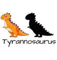design of tyrannosaurus dinosaur vector image
