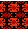ethnic pattern with stylized Kazakh motifs vector image vector image