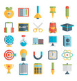 flat style education and e-learning vector image