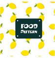 food pattern lemon background image vector image