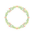 frame wreath with leaves and branches decor vector image vector image