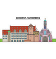 germany nuremberg city skyline architecture vector image vector image