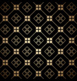 golden and black art deco seamless pattern vector image vector image