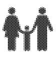 halftone dot family child icon vector image vector image