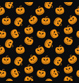 halloween seamless pattern with scary stare vector image