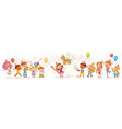 happy group of children on birthday party vector image