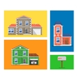 house colorful vector image