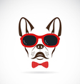 images of dog bulldog wearing sunglasses vector image vector image