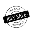 July Sale rubber stamp vector image vector image