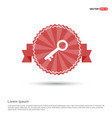 key icon - red ribbon banner vector image