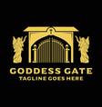 logo goddess gate vector image
