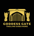 logo goddess gate vector image vector image