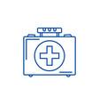 medical case line icon concept medical case flat vector image vector image