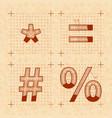 medieval inventor sketches special signs retro vector image vector image