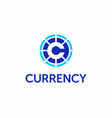 modern professional logo currency in blue vector image