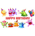 monster birthday vector image