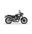 motorcycle classic silhouette vector image